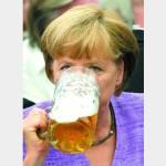 Утренняя гальба пива Меркель не вредит
