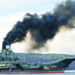 Российский «авианосец» дымит как старый паровоз…