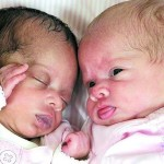 Разноцветные близнецы похожи, как две капли воды