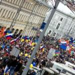 Россияне митингуют «за мир»