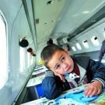 Детсад на борту самолета