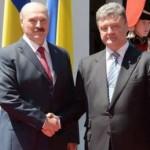 Порошенко договорился с Лукашенко о добрососедстве