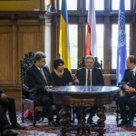 В Гданьске состоялась трехсторонняя встреча Порошенко, Коморовского и Пан Ги Муна
