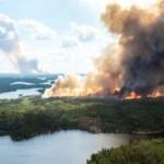 В Канаде вспыхнули масштабные лесные пожары