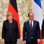 Меркель, Олланд, Порошенко и Путин согласовали выполнение минских договоренностей до конца 2015 года