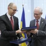 Украина подписала политическую часть соглашения с ЕС