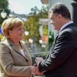 Петр Порошенко провел встречу с Ангелой Меркель