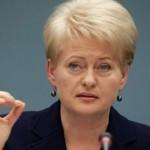 Грибаускайте: «Россия и террористы не собираются соблюдать перемирие»