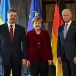 Порошенко, Меркель и Байден согласовали общую позицию по ситуации в Украине