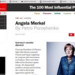 Как Порошенко хвалит Меркель в международной прессе